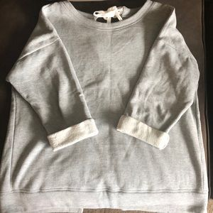 Size M Kensie Jeans Grey open back Sweatshirt